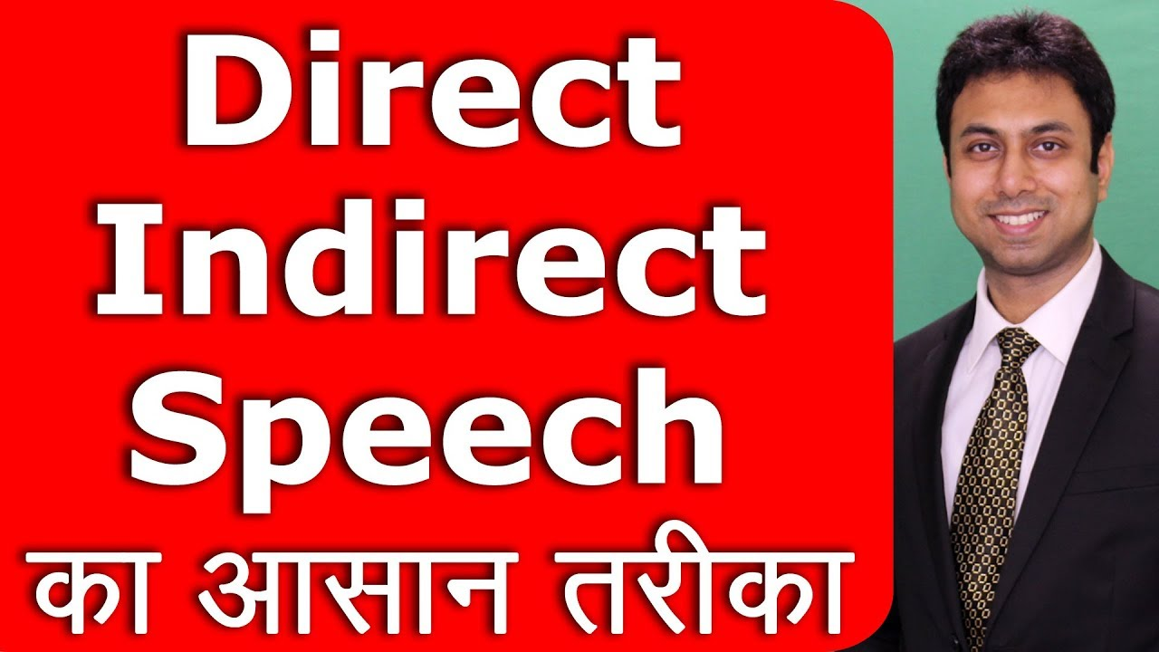 Direct Indirect speech parts of speech